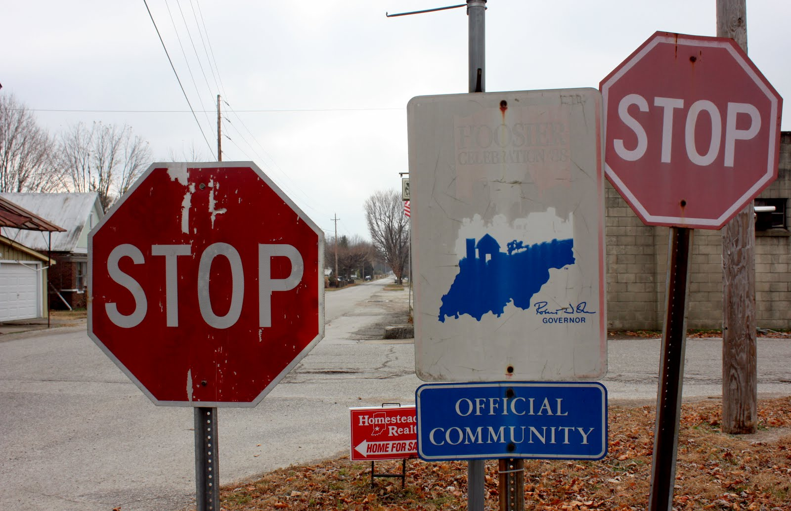 Stop signs, Scotland, Indiana.